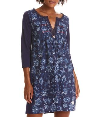 3ccb01655 Lacey Garden blue pure cotton dress Sale - odd molly Sale