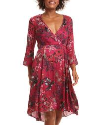 Magic Garden crimson floral dress
