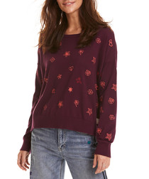 Happyness burgundy pure cotton jumper