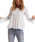 Good Vibes Only blue pure cotton blouse Sale - odd molly Sale