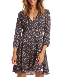 Cosmic Moments black floral V-neck dress