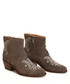 Crusade Low taupe embroidery suede boots Sale - Odd Molly Sale