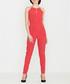 Red halterneck necklace jumpsuit Sale - lenitif Sale