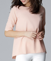 dusty pink half sleeve relaxed blouse
