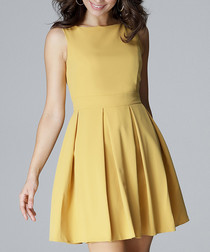 buttercup pleated sleeveless dress
