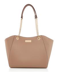 Bex taupe chain strap shoulder bag