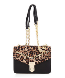 Establish Black leopard shoulder bag