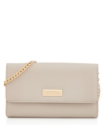 Favour grey chain strap clutch