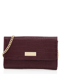 Favour wine chain strap moc-croc clutch