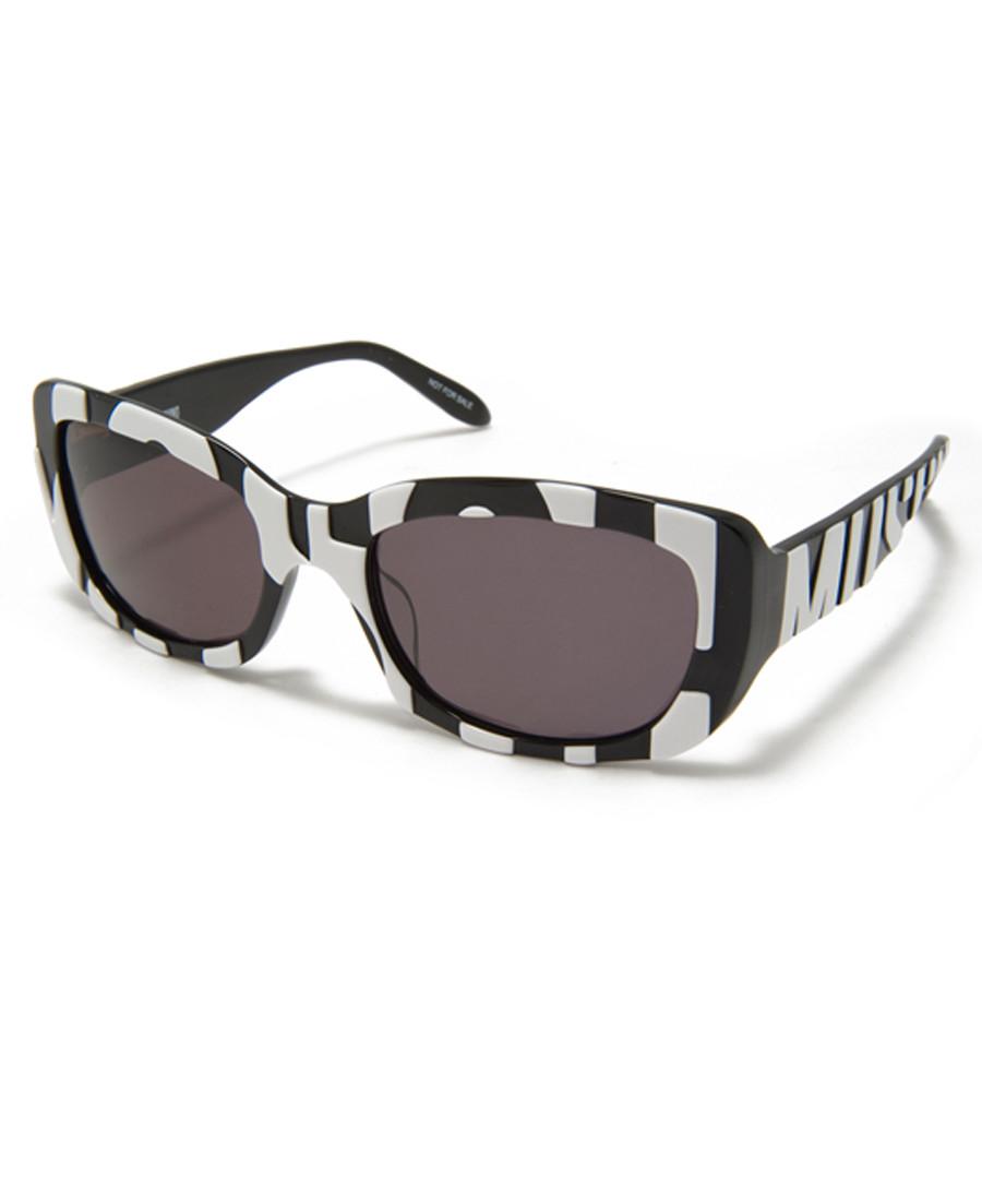 Black & grey streak sunglasses Sale - moschino
