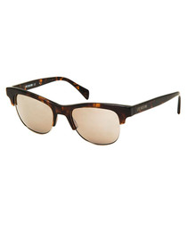 Havana acetate club sunglasses