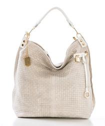 Caroline cream leather shoulder bag