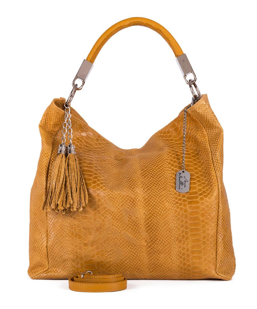 Rosallia yellow leather shoulder bag Sale - anna morellini