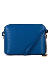 Sofia blue leather crossbody