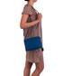 Sofia blue leather crossbody Sale - anna morellini Sale