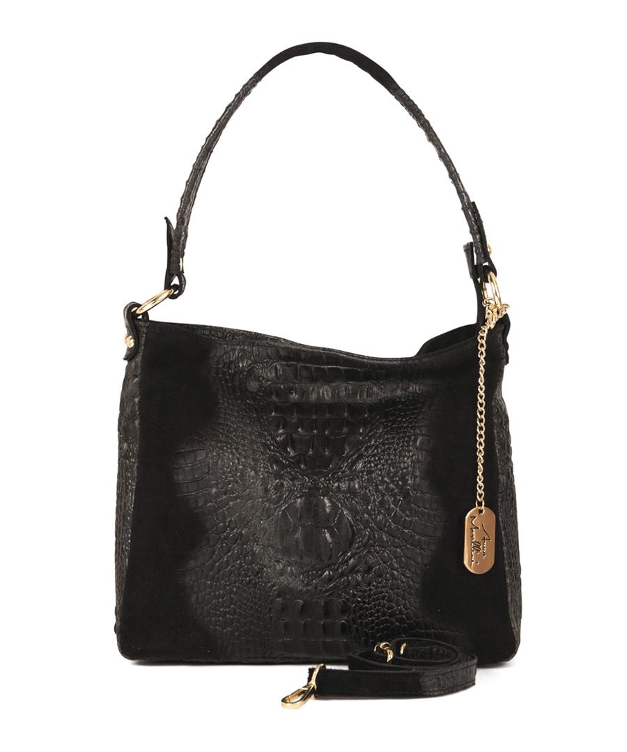 Linda black leather shoulder bag Sale - Anna Morellini