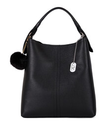 Callida I black leather grab bag
