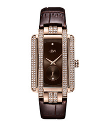 Mink diamond & rose gold-plated watch