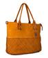 Milena ochre leather shopper bag Sale - anna morellini Sale