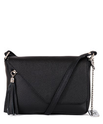 Lola black leather crossbody