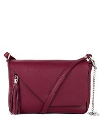 Lola burgundy leather crossbody