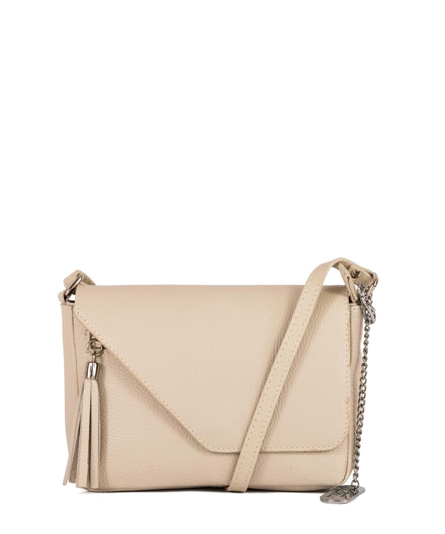 Lola beige leather crossbody Sale - anna morellini