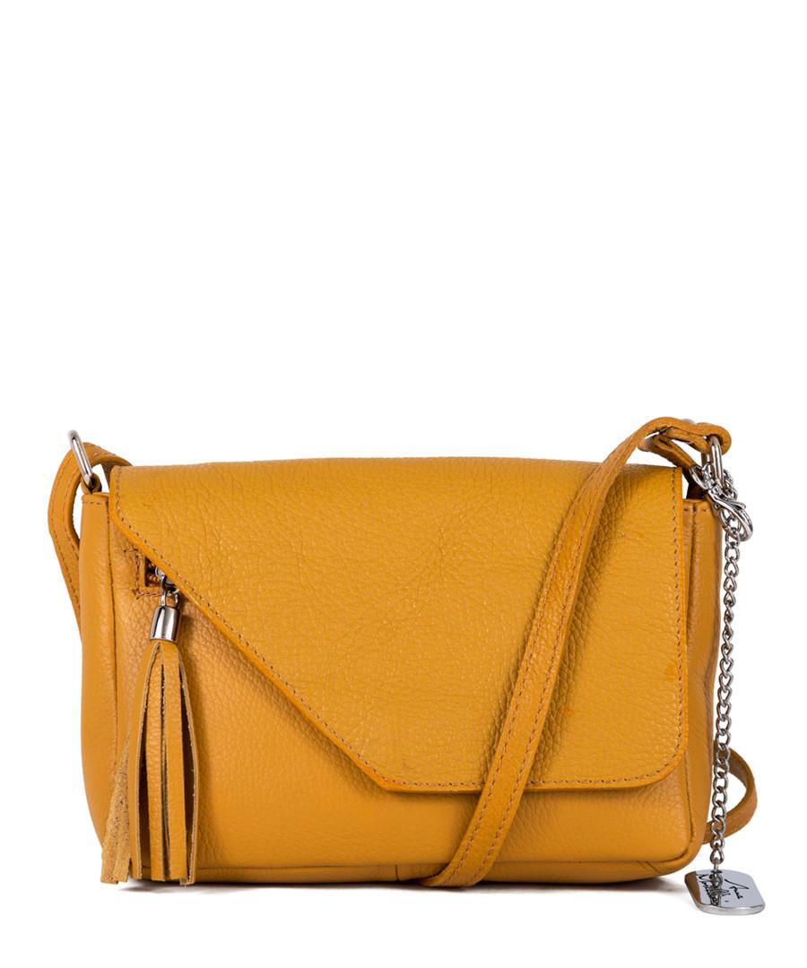 Lola amber leather crossbody Sale - anna morellini