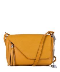 Lola amber leather crossbody