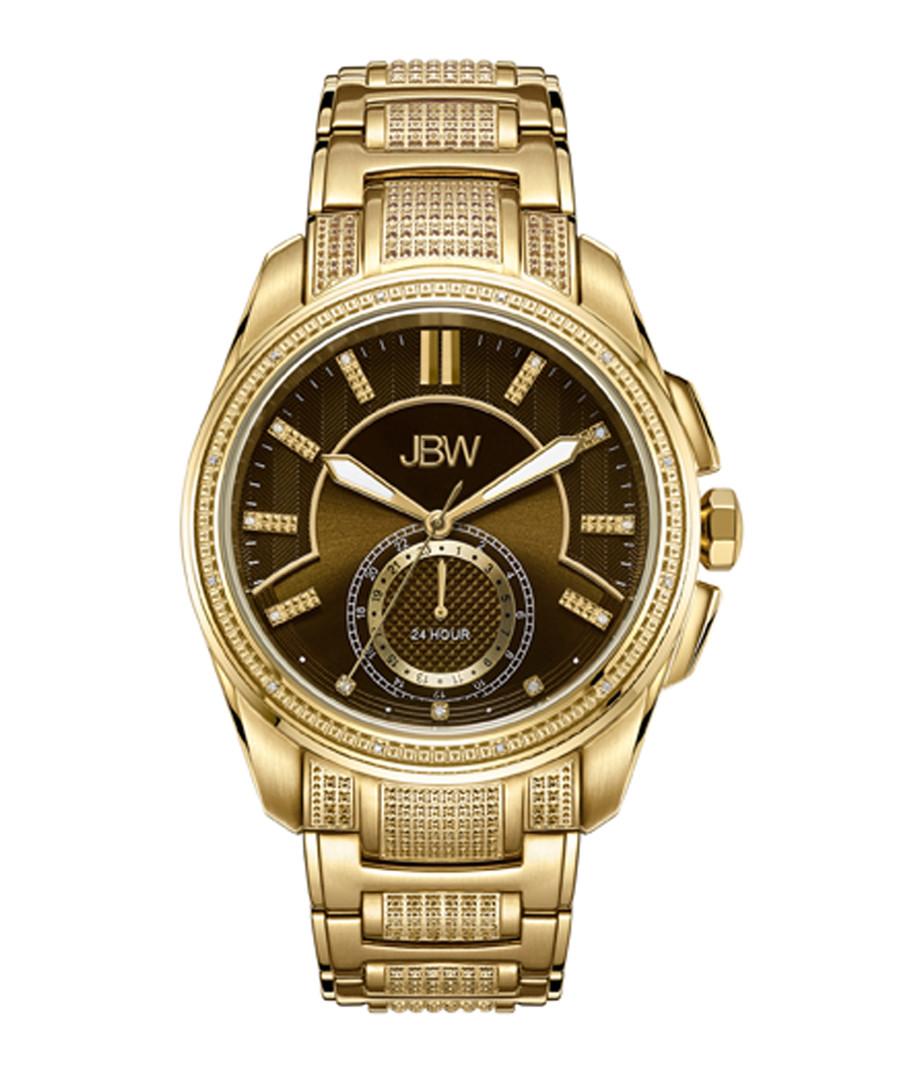 Prince gold-plated diamond watch Sale - jbw