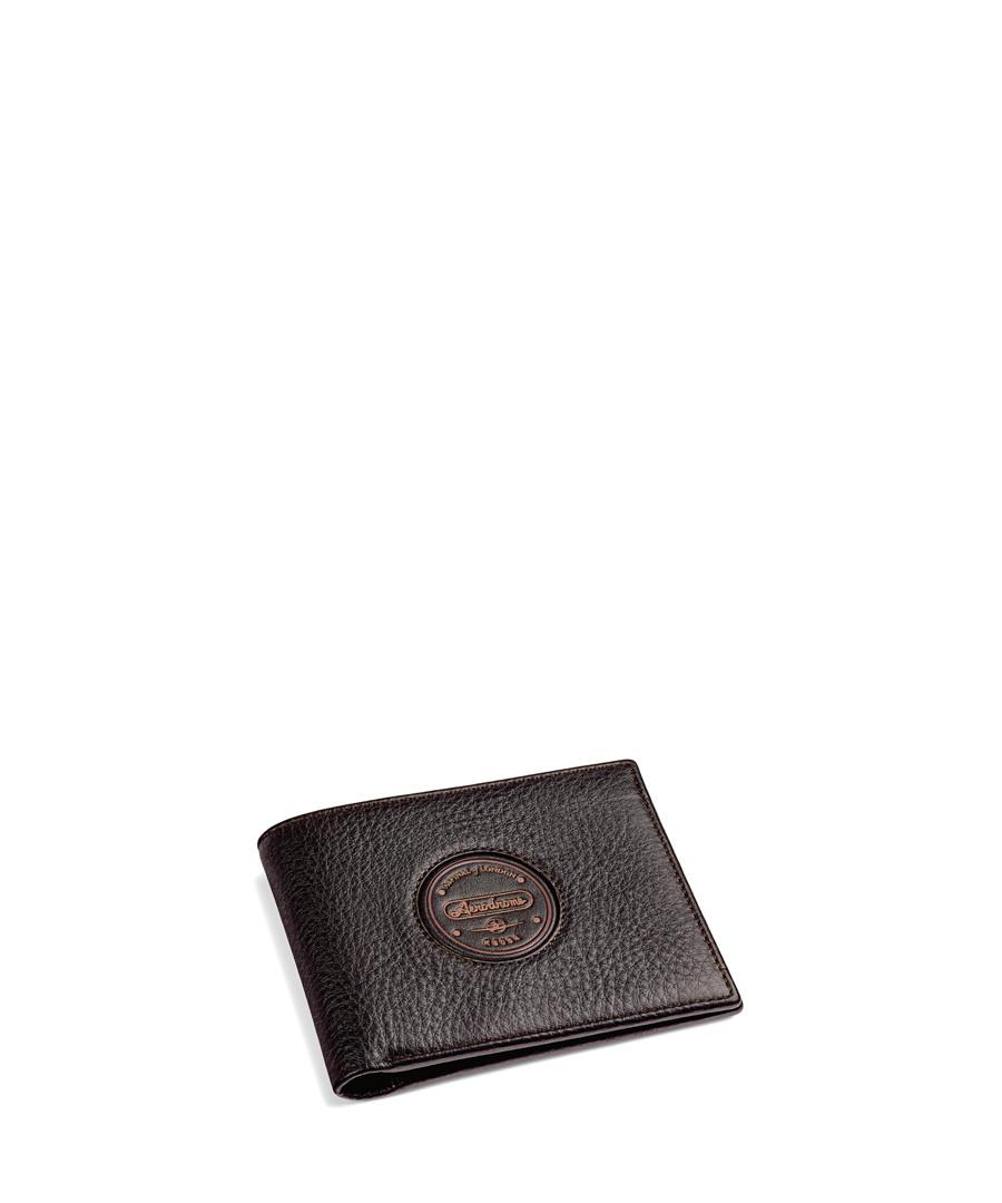 Aerodrome dark brown leather wallet Sale - Aspinal Of London