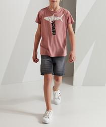 Shark cotton shorts and top set