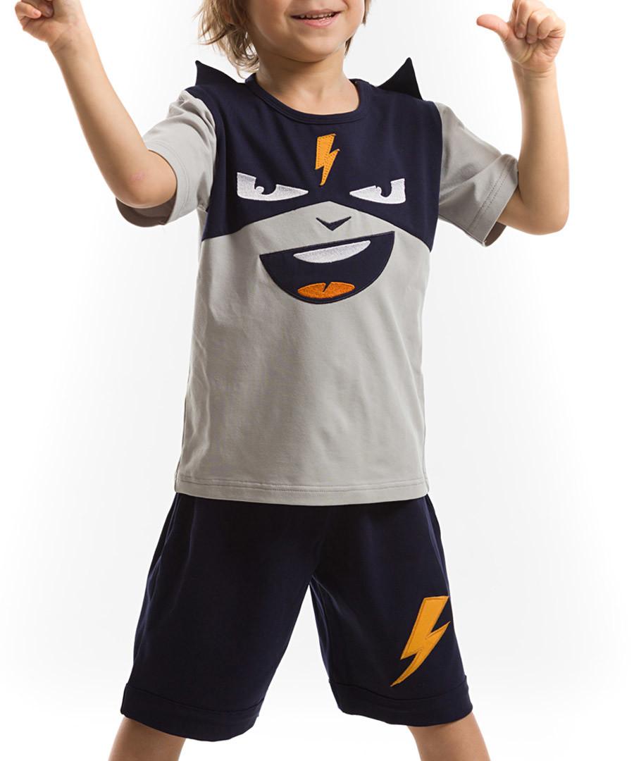 Bolt cotton blend shorts & top set Sale - Mushi