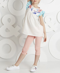 Peach pure cotton frill outfit