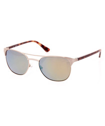 Havana metal sunglasses