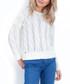 Ecru wool blend cable knit jumper Sale - fobya Sale