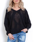 Black large diamond knit jumper Sale - fobya Sale