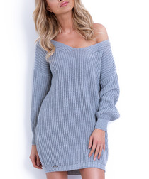 Grey oversized jumper dress