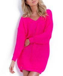 Hot pink oversized jumper dress