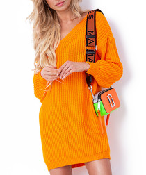 Orange oversized jumper dress