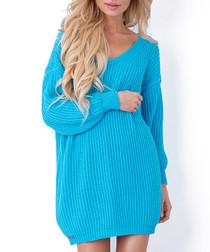 Turquoise oversized jumper dress