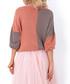 Apricot & grey colour block jumper Sale - fobya Sale