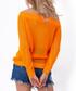 Orange mesh bardot neck blouse Sale - Fobya Sale