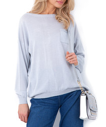 Grey mini pocket jumper