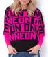 Hot pink Neon print jumper Sale - fobya Sale