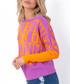 Orange Neon print jumper Sale - fobya Sale