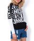 White Neon print jumper Sale - fobya Sale