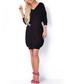 Black cinched waist jumper dress Sale - fobya Sale