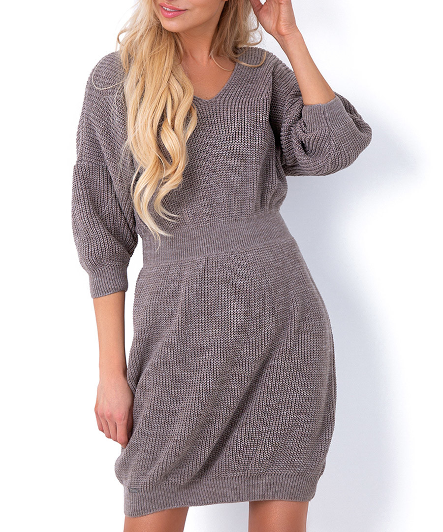 Latte cinched waist jumper dress Sale - fobya