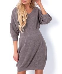 Latte cinched waist jumper dress