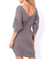 Latte cinched waist jumper dress Sale - fobya Sale